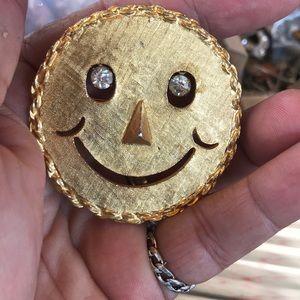 Vintage Smiley Face Brooch Pendant